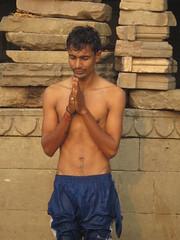 varanasi 2017 (gerben more) Tags: prayer man shirtless india religion hinduism hindu people portrait portret