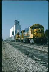 Topeka Railroad Days excursion 1990 at Pauline, Kansas eastbound on the First District (redfusee) Tags: atsf tpw