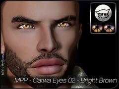 MPP-Display-CatwaEyes02-BrightColors-Brown (MPP My Pretty Pixels) Tags: secondlife mpp fashion eyes