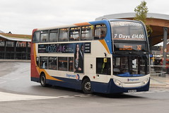 SMSL 19062 @ Chester bus interchange (ianjpoole) Tags: stagecoach merseyside south lancs alexander dennis enviro 400 mx56fso 19062 working route x2 chester bus station palace fields runcorn