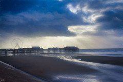 Break in the clouds (Kev Walker ¦ 8 Million Views..Thank You) Tags: architecture blackpool blackpooltower britishculture building canon1855mm canon700d city clouds digitalart england hdr illuminations lancashire northwest outdoor postprocessing sea seaside sky water