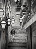 Callejones de Dubrovnik - La bajada (Bonsailara1) Tags: bonsailara1 callejón dubrovnik croacia croatia escalera stair alley bw perspective perspectiva