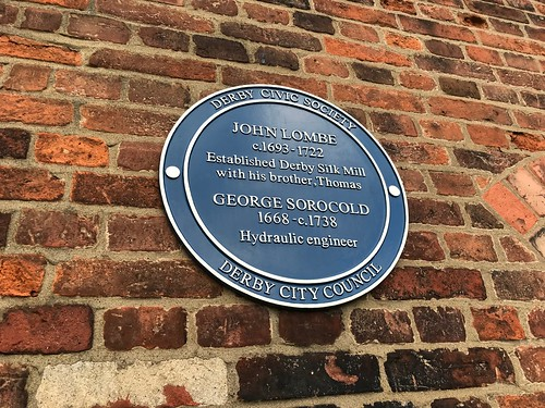 John Lombe and George Sorocold plaque