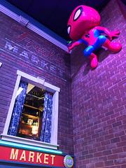 Fred's Market and Spidey (knoopie) Tags: 2017 december iphone picturemail everett funko funkohq market fredsmarket spiderman