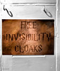 Invisibility Cloaks for free - Happy New Year (jerry_lake) Tags: 30dec2017 hampshire harrypotter invisibilitycloaks lymington waterstones iphone7 shadows