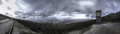 Maybe up here, we can finally breathe. (amfipolos) Tags: panoramic panorama pano 180 dramatic dramaticsky overcast sky clouds cloudy winter cold wind mountain view viewfromabove mountainatmosphere hymettusmountain hymettus roadtrip landscape cloudscape attica athens greece nikond7200 forest trees