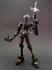 Jinzoningen (Djokson) Tags: robot ninja android soldier warrior assassin shuriken black silver lego bionicle moc toy mode djokson