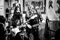 Italian hard rock musicians in the tiny music bar Alfonso's in Munich, Germany (Phototravelography) Tags: alfonsoslivemusicclub bavaria bayern deutschland germany munich münchen schwabing bar blackandwhite blur concert emotion feelings guitar hardrock light live longexposure longhair monochrome music rock sound people cof007 interior bw