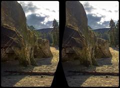 Sandstone caves 3-D / Stereoscopy / CrossView / HDR / Raw (Stereotron) Tags: sachsenanhalt saxonyanhalt ostfalen harz mountains gebirge ostfalia hardt hart hercynia harzgau blankenburg europe germany crosseye crosseyed crossview xview cross eye pair freeview sidebyside sbs kreuzblick 3d 3dphoto 3dstereo 3rddimension spatial stereo stereo3d stereophoto stereophotography stereoscopic stereoscopy stereotron threedimensional stereoview stereophotomaker stereophotograph 3dpicture 3dglasses 3dimage canon eos 550d chacha singlelens kitlens 1855mm tonemapping hdr hdri raw orbs lensflare sunstreaks