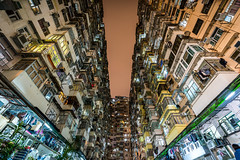 The other side of Hong Kong (_gate_) Tags: hong kong 2017 living montane mansion housing china city trip urban street night shot low light league tamron 1530mm wide nikon d750 stacked small gate travel south east asia sea people sky clouds stadt hk november architecture buidling skyline long exposure