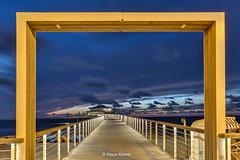 Seebrücke Timmendorfer Strand (Klaus Kehrls) Tags: nacht timmendorfer strand seebrücke teehaus landschaft ostsee morgenrot sonnenuntergang himmel dämmerung wasser