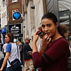 IMG_3195b (Luxifurus) Tags: hip hipshot fromthehip candid unposed covert unaware secret stolen gimp commute london street portrait urban woman girl female pretty beautiful hands faces