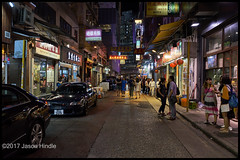 Causway Bay at Night (jason_hindle) Tags: causwaybay china hongkong lockhartroad night peoplesrepublicofchina prc sar sony28mmf2 sonya7ii specialadministrativeregion street thepeak
