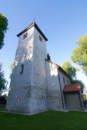 Kościół św. Mikołaja w Wysocicach od południowego zachodu