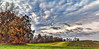 IMG_2756-57pPtzl1scTBbLGER (ultravivid imaging) Tags: ultravividimaging ultra vivid imaging ultravivid colorful canon canon5dmk2 clouds fields farm autumn fall autumncolors panoramic pennsylvania pa painterly landscape evening twilight trees scenic sky