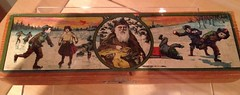 Vintage Christmas (Mr. Happy Face - Peace :)) Tags: art2017 vintage old 1800s box art christmas giftbox retro boys santa skate snowball kids love festive drawing