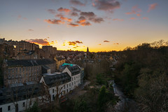 Sunset over Dean Village, Edinburgh (MilesGrayPhotography (AnimalsBeforeHumans)) Tags: 1635 fe1635mm sonyfe1635mmf4zaoss architecture auldreekie a7ii britain bridge city cityscape dusk deanvillage edinburgh europe evening fe f4 glow goldenhour historic iconic ilce7m2 landscape lens lothians mill nd nighfall nd09 outdoors old oss photography photo landscapephotography tranquil river scotland sky skyline scenic sunset sunlight scottish scottishlandscapephotography sonya7ii sony sonyflickraward town twilight trees uk unitedkingdom village villagearchitecture wide water waterofleith waterfall winter zeiss za