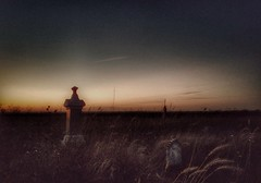 I'll never forget... (BillsExplorations) Tags: grave monument graveyard cemetery grasslands prairie dusk evening sunset slide hss sliderssunday abandoned rural old illinois forgotten sad poignant