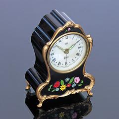 MIniature Musical Mantel Alarm Clock (vicent.zp) Tags: dscn3331 miniature musical mantel clock westerngermany vintage alarm