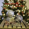 Merry Christmas / Joyeux Noël (jah32) Tags: christmas christmascard christmascards christmastree merrychristmas ornaments bows twine wood weatheredwood weathered crate balls light lightroom joyeuxnoël stilllife tabletop onthetable warmth warm