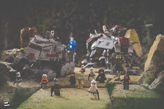 501 Morning Patrol: Looking for Clankers (David Otten Fotografie) Tags: 50mm 50mm18d d610 holland lego nederland netherlands nikkor nikon nikond610 nikontop speedlight davidottenfotografie dof fun sb700 starwars toys 501 regiment patrol anakin skywalker asoka tano yoda rex clone