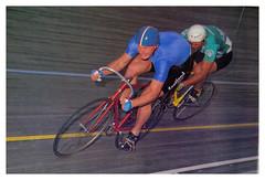 Eddie Alexander (City of Edinburgh R.C.). (Paris-Roubaix) Tags: eddie alexander edinburgh road club rc stewart brydon tandem sprint kilometre time trial national track championships 1987 leicester