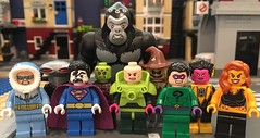 Legion of Doom (Hobbestimus) Tags: lego toys 80s cartoon superfriends dc comics lexluthor brainiac captaincold blackmanta cheetah sinestro riddler scarecrow gorillagrodd bizarro