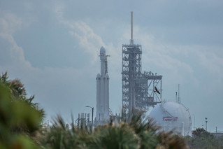 Falcon Heavy on Pad 39A at Kennedy Space Center