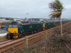 57602 & 57603 Ponsandane (Marky7890) Tags: gwr 57602 57603 class57 longrocktmd ponsandane railway cornwall penzance cornishmainline train