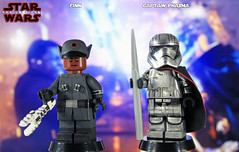 Custom LEGO Star Wars: The Last Jedi | Finn & Captain Phasma (LegoMatic9) Tags: custom lego star wars the last jedi finn first order disguise captain phasma chrome minifigures dj can you make