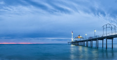 Jetty Blue Hour (Anthony Kernich Photo) Tags: sunset adelaide australia blue bluehour twilight cloud sky beach water ocean seascape seaside longexposure olympusem10 olympus olympusomd southaustralia panorama panoramic pier jetty vivid microfourthirds light