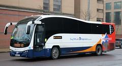 Stagecoach Fife 53703 OU10GYK leaves Glasgow Buchanan with an X27 service. (Gobbiner) Tags: eastscotland b9r plaxton glasgow 53703 express stagecoach oxford fife ou10gyk cityconnect elite eastkent