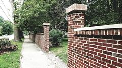 M Kirby Hosp (Allen F. Moore Estate) c1912 Brick Fence, 1111 N. State St, Monticello, IL 20170731-17 (RLWisegarver) Tags: piatt county history monticello illinois usa il
