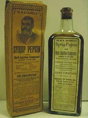 Dr. W. B. Caldwell's Syrup Pepsin and Herb Laxative Compound. Pepsin Syrup Co. Sole Proprietors MONTICELLO, ILL., U.S.A. Recommended for CONSTIPATION and its associated ills. Revised Label adopted Nov 1. 1906. Contents 12 Fl Ozs. There is a complete label (RLWisegarver) Tags: piatt county history monticello illinois usa il