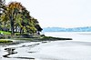 Arnside on the Estuary of the River Kent (Tangerinesoulman) Tags: arnside silverdale cumbria river kent bay shore sea grey gloom sand