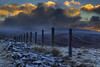 """"""" THE WHOLE MOUNTAIN TO MYSELF """" (Wiffsmiff23) Tags: breconbeaconsnationalpark brecon southwales sunrise corndhu cribbyn craigcerriggleisiad fanfrynch fence frozen frost frosty ice snow dramatic drama cold freezing freeze"""