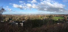 View from Halton Castle towards Widnes (s1ng0) Tags: runcorn widnes bridge bridges silverjubilee merseygateway river rivermersey mersey iphone panoramic