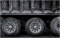 Big Dog (sorrellbruce) Tags: trucks plows weather cold stormy winter lines textures forms patterns abstract