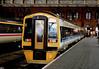 158714 at St Pancras. 1990. (Mr Corbett's stuff) Tags: 158714 class 158 dmu st pancras unit testing gauging test train
