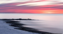 Sunrise on Cape Cod (mhoffman1) Tags: capecod falmouth falmouthharbor falmouthheightsbeach sonyalpha sunrise a7riii beach jetty longexposure snow winter massachusetts unitedstates us