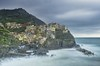 Le cinque terre - Manarola (anyulled) Tags: cinqueterre italy coastline wateredge longexposure bay boat water riverbank townscape seascape rockycoastline seaside town colorful skyline
