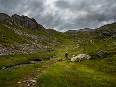 Hiking in Northern Norway mid-summer. Sleepless nights! (frodekoppang) Tags: norway norwegianlandscape sandhornet hiking landofthemidnightsun olympusomdem5markii olympus clouds stormclouds abovearticcircle