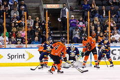 "Kansas City Mavericks vs. Colorado Eagles, December 16, 2017, Silverstein Eye Centers Arena, Independence, Missouri.  Photo: © John Howe / Howe Creative Photography, all rights reserved 2017. • <a style=""font-size:0.8em;"" href=""http://www.flickr.com/photos/134016632@N02/24278165287/"" target=""_blank"">View on Flickr</a>"