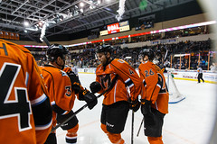 "Kansas City Mavericks vs. Colorado Eagles, December 16, 2017, Silverstein Eye Centers Arena, Independence, Missouri.  Photo: © John Howe / Howe Creative Photography, all rights reserved 2017. • <a style=""font-size:0.8em;"" href=""http://www.flickr.com/photos/134016632@N02/24278194177/"" target=""_blank"">View on Flickr</a>"