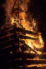 fireside (Mr. Greenjeans) Tags: bonfire bonfiresonthelevee christmas tradition louisiana flames fire