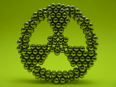 Radioactive - P1210969 (tend2it) Tags: neoball neocube buckyballs cybercube zenmagnet magcube nanodots magnet neodymium zen magnets zenmagnets cool magnetic sculptures art sculpture design original symmetric geometry geometric shape radioactive symbol streering wheel