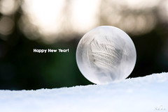 Happy New Year! (sch.o.n) Tags: unusual closeup experiment cold decoration icy fun natural white liquid ball bright light christmas ice shape abstract macro season soap round cool texture design color blue blurry winter weather crystal transparent frost background snow water nature frozen pattern bubble textured phenomenon happy new year
