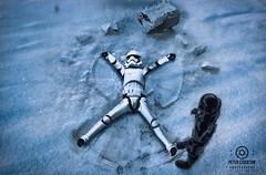 snow angel (kapper22) Tags: star wars storm trooper darth vader snow outdoors fun photoshop angel