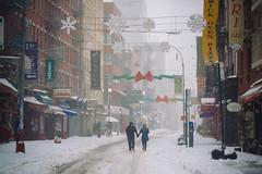 Oblivion (mgiachetti) Tags: ny newyork nyc manhattan usa america urban people photography street streetphotography snow color city