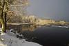 Vaskjala veehoidla (Jaan Keinaste) Tags: pentax k3 jõgi river reservoir vesi water lumi snow talv winter peegeldus reflection pentaxk3 harjumaa vaskjalaveehoidla veehoidla piritajõgi maastik landscape